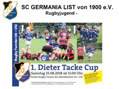 Zu Ehren Dieter Tackes lädt der SC Germania List zum Jugendturnier