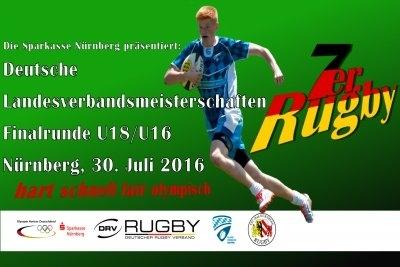 Veranstaltungsplakat zum Finalturnier um die 7er-DM der Landesverbände.