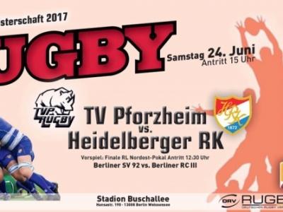 Am Samstag um 15:00 Uhr wird der deutsche Rugby-Meister im Stadion Buschallee ermittelt