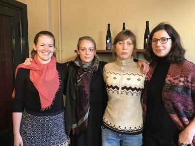Der Vorstand: Frederike Wenzlaff, Johanna Preiß, Vanessa Werner und Dr. Anne Marie Hoffmann (v.l.n.r.)