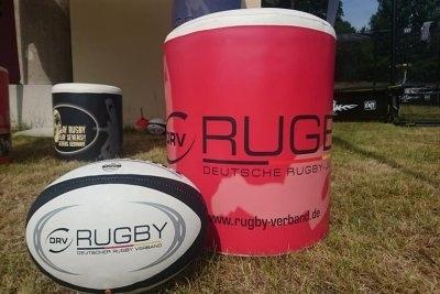 Präsentationsstand der Deutschen Rugby-Jugend