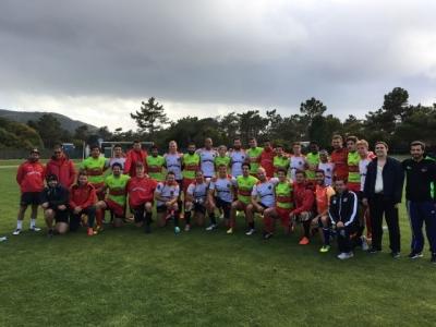 Unsere Siebener-Jungs nach den drei siegreichen Spielen gegen den alten GPS-Rivalen Portugal