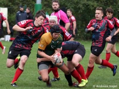 Die Rugbyunion hatte die Hallenser fast durchweg im Griff