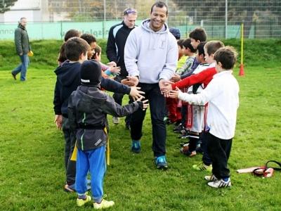 DRV-Nationaltrainer Melvine Smith hatte sichtlich Spaß mit der spanisch sprechenden Rugbymannschaft