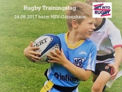 Rugby Young Boars aus Dreieich machen Werbung für Rugby