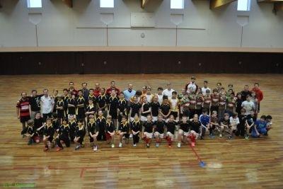 Die Teilnehmer der ersten DM im Rahmen des Projektes Get into Rugby