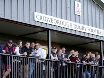 Crowborough RFC besucht Hamburg. Hier ein Foto der Zuschauerterasse am Rugbyplatz