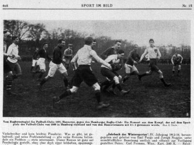 Bereits vor dem ersten Weltkrieg kämpften die Spieler in Hamburg um den Rugbyball (c) DRV-Archiv/Walter Gebhardt