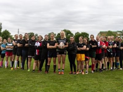 Die SG Rugby Ruckoons bei einem gemeinsamen Training