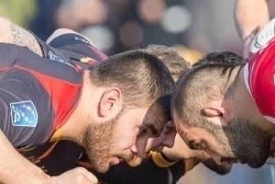 Auf den deutschen Sturm wartet in Tiflis zum EM-Auftakt gegen Georgien 80 Minuten Schwerstarbeit (c) Jürgen Keßler