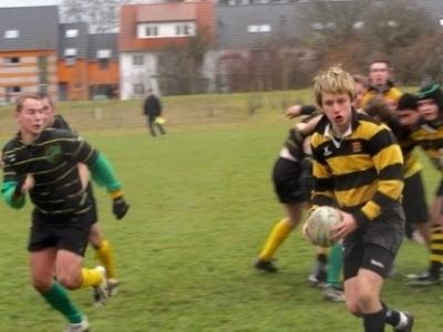 Nach einem Gedränge greift die DJK greift an, der RC Mainz geht in die Verteidigung