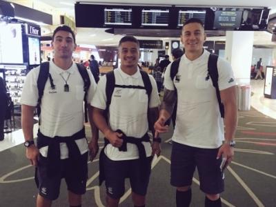 Auch die All Blacks sind nun auf dem Weg nach Rio, doch Sonny Bill Williams wird im Anschluss direkt zurückmüssen um in der Rugby Championship anzutreten. Foto (c) Augustine Pulu Twitter