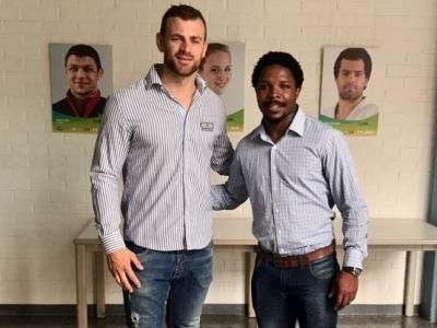 Das neue Trainer-Team der DRV VII mit Co-Trainer Clemens v. Grumbkow und dem Südafrikaner Vuyo Zanqa.