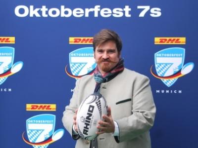 Mit Miki Neuner ist ein waschechter Bayer und kümmert sich bei den DHL Oktoberfest 7s um die Turnier-Orga.