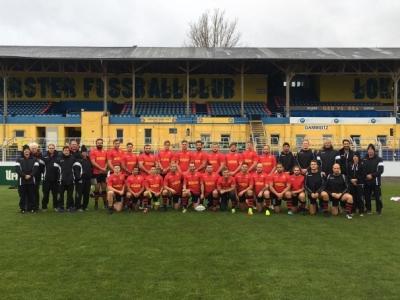 Unsere Nationalmannschaft nach dem Abschlusstraining in Leipzig