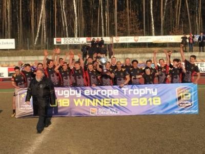 Souveräner Final-Sieg, verdienter Aufstieg: Die DRV U-18 nach dem EM-Sieg über Polen. Foto (c) Ceselka