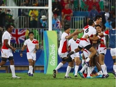 Auch nach dem Last Minute Sieg über Frankreich konnten Japaner jubeln. Foto (c) World Rugby Instagram